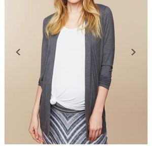 Maternity Draping cardigan in gray